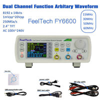 FeelTech 15MHz-60MHz 2CH DDS Function Signal Generator Sine Square Sweep Counter