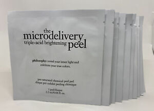 PHILOSOPHY The Microdelivery Triple-Acid Brightening Peel 12 pads New No Box