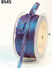"1/4"" Solid Iridescent Ribbon –May Arts - Irid. Blue/Fuchsia - BS45 - 5 Yards"
