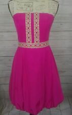 Tommy Hilfiger Women's Pink Strapless Bubble Dress Cocktail Summer Size 6 B3/122