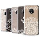 STUFF4 Gel/TPU Case/Cover for Motorola Moto G5 Plus/Fine Lace Wood