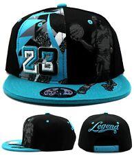 Chicago New Greatest MJ 23 Jordan Bulls Blue Black Dunk Era Snapback Hat Cap