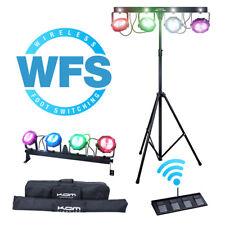 KAM COB PARBAR WFS 120w RGBW LED Par Bar Strobe Effect Light Wireless Footswitch