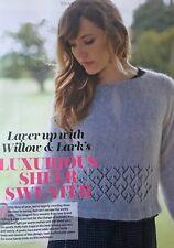 KNITTING PATTERN Ladies Diamond Lace Panel Jumper Straight Neck Sweater PATTERN
