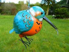 Kingfisher Bird Tea light Candle Holder Metal Hanging Lantern - Kingfisher