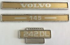 Set of 3 emblems Volvo 242 DL 145
