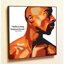 Tupac Shakur Painting Decor Print Wall Art Poster Canvas 2Pac Rap Popart Gift