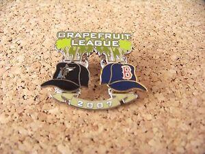 2007 Florida Marlins vs Boston Red Sox Spring Training Grapefruit League pin