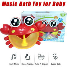 Music Bath Bubble Machine Big Crab Automatic Bubble Maker Blower Toy for Baby