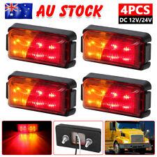 4x 8 LED Clearance Lights Amber Red Side Marker Indicator Trailer Truck 12v 24v