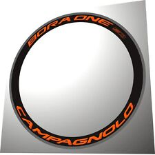 CAMPAGNOLO BORA ONE 50  ORANGE 3D REPLACEMET RIM DECAL SET FOR 2 RIMS