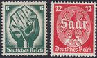 German Reich 544/45 Saar Plebiscite 1935, Complete Mint