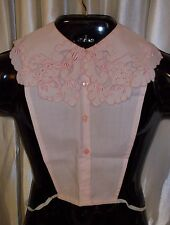 Pink dickie COLLAR lavish embroidery GORGEOUS! washable