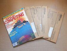 Popular Computing 4 I1982 ISSUES APRIL JUNE AUG SEPT