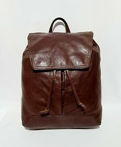Hidesign Brown Leather Backpack Rucksack Bag Large Size 30cm x 40cm