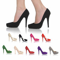 NEW WOMENS LADIES FASHION ANKLE PUMP HIGH HEEL SHOES SIZE 3-8