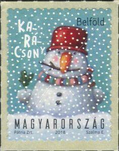 Hungary 2018 Christmas/Greetings/Snowman/Animation 1v s/a (hx1250)