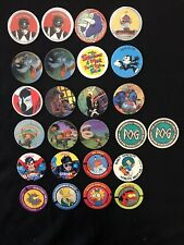 Character Pogs Simpsons, spawn, lucky charms, power rangers, superman