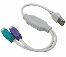 SPLITTER USB 2.0 A PS2 CAVO LEAD ADATTATORE MOUSE TASTIERA