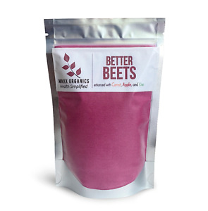 MAXX Organics Super Beets BETTER BEETS POWDER Carrot Apple Kiwi 30 Day Compare