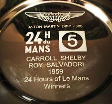 Le Mans 1959 Carroll Shelby et Roy Salvadori, Aston Martin WINNER'S PLAT.