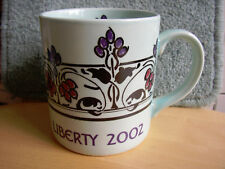 MINT Liberty of London Year mug 2002 Poole Pottery Coffee Tea cup Duck egg blue