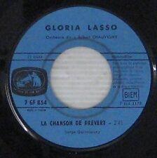 Gloria Lasso 45 Tours Juke Box interprète Serge Gainsbourg 1962