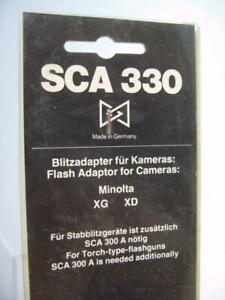 SCA 330 Adapter for The Minolta XG & XD Camera - NOS #R