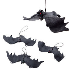 Black Rubber Bats Hanging adornment Home Halloween Party Decoration