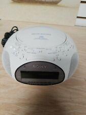 SONY Dream Machine ICF-CD831 CD Radio Dual Alarm Clock Audio White