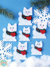 Plastic Canvas Kit ~ Design Works Set of 6 Christmas Cats Ornaments #DW1226