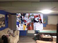 HUGE! 44x28 RON HEXTALL Vinyl Banner POSTER art Philadelphia Flyers hockey