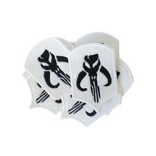 Embroidered BOBA FETT White Felt Sew & Iron On Patch Bounty Hunter Star Wars x10