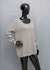 PRINCESS GOES HOLLYWOOD Jumper Grey Studded WOOL CASHMERE Sweater Top 42