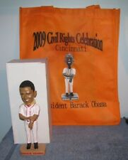 PRESIDENT BARACK OBAMA BOBBLEHEAD 2009 Civil Rights Celebration Red Trim + Bag