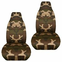 Fits 97-02 Jeep Wrangler TJ  front set car seat covers  camouflge design