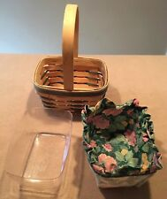 Longaberger 1992 Easter Basket Small Chore Combo Green Weave Great!