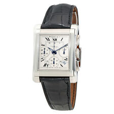 Bedat No. 7 Chronograph Silver Dial Black Leather Mens Watch 768.910.600