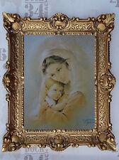 Gemälde Künstler Carlo Parisi Maria mit Jesus Ikonen mit Rahmen 56x46cm Wandbild
