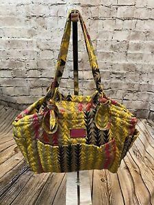 HUGE Marc by Marc Jacobs BOHO Tribal Arrows Quilted Diaper Travel Bag & Mat!!