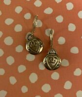 Brighton CHERISH Hearts Dangle Silver Custom Earrings