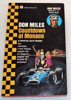 Don Miles COUNTDOWN AT MONACO by Larry Kenyon 1st Ed 1967 AVON PB Book No. G1316