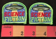 2 Patch Lot - UFO Spaceship Patches - Science Fiction 00AB