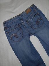 Refuge jeans lowrise flare womens size 3 27X28.5 destroyed stretch denim blue