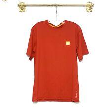 Quicksilver Orange Short Sleeve T-Shirt Men's Medium Shirt Tee Surf