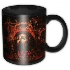 More details for slayer official repentless black ceramic mug cup tea coffee boxed band fan metal