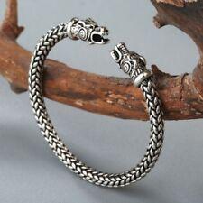 Viking Dragon Head Bracelet Norse Mythology Jormungandr Beast Bangle Men Jewelry
