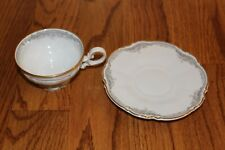 Footed Cup and Saucer Set Hutschenreuther Lorelei/ Loreley Sylvia Shape gold