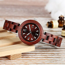 Casual Full Wooden Women Lady Analog Quartz Wrist Watch Small Wristband Strap