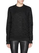 GIVENCHY BLACK BONDED LACE MESH PULLOVER